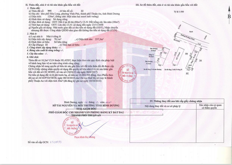 Nhà được in trên giấy chứng nhận QSDĐ